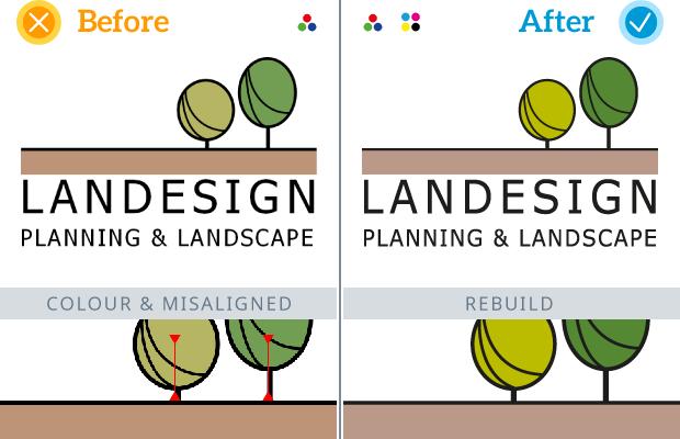 Example Logo Rebuild - Landesign